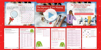 The Mystery of the Missing Christmas Jumper! Activity Pack - Christmas, Puzzle, Game, Atlas, Map Skills, End of Term, KS3, KS4