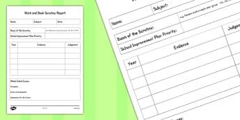 Work and Book Scrutiny Report - work, book, scrutiny, report