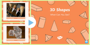 3D Shapes What Can You See? PowerPoint
