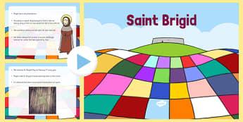 Saint Brigid Informative PowerPoint - saint brigid, irish history, ireland, saint, patron, powerpoint, informative