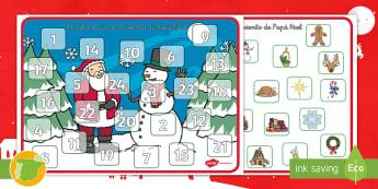 * NEW *Calendario de exposición El calendario de Adviento de Papa Noel  - Navidad, natividad, santa Claus, papá Noel, navideño, navideños, festividad, fiesta, ideas, manua