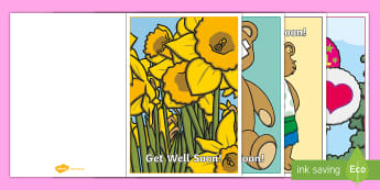 Get Well Soon Cards Colouring Activity - Relaxing, Shading, Gift, Receive, Ill, Fun, Creativity, Creative, Art