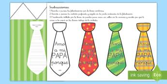 Manualidad: Felicitación de corbata - Día del Padre - día del padre, padre, papá, papi, camisa, corbata, felicitación, tarjeta, regalo, manualidad, ,Au