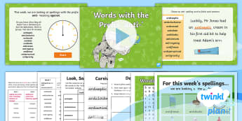 PlanIt Spelling Year 4 Term 3A W2: Adding the Prefix Anti- Spelling Pack - Spellings, Year 4, Term 3A, W2, prefix, anti-, word families