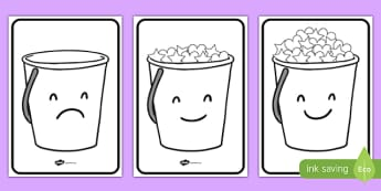 Have You Filled a Bucket Today Buckets (A4, Black & White) - have you filled a bucket today, filling buckets, Carol McCloud, posters, signs, display, buckets, full, empty, bucket, black and white, happyness, children