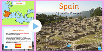 Spain Information PowerPoint - information, spain, powerpoint
