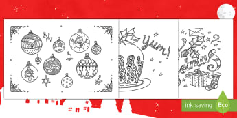 Collective Colouring Group Activity - christmas, minfulness, colouring, group activity, group work, posters