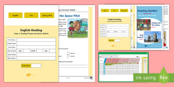 Year 2 2018 Spring Term Reading Assessment Pack - sats, paper 1, paper 2, reading test, Y2, KS1, reading content domains, reading papers,