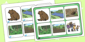 We're Going On A Bear Hunt Matching Cards and Board - bear hunt, bear hunt, bear hunt picture matching