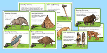 Stone Age Estimation Challenge Cards - stone age, estimation, challenge cards, challenge