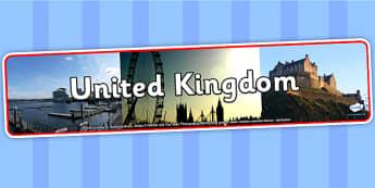 United Kingdom Photo Display Banner - United Kingdom, UK, Display Banner, United Kingdom Banner, UK Display Banner, Themed Banner, Photo Banner