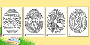 Coloriages anti-stress : Les oeufs de Pâques - arts plastiques, arts, couleurs, cycle 1, cycle 2, cycle 3, Pâques, oeuf, easter