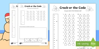 Crack-er the Code Addition and Subtraction to 20 Differentiated Activity Sheet - christmas, problem solving, grade 3, calculations, operations, winter, december, number, worksheet