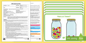 Comparing Quantities Magnetic Competition Adult Input Plan and Resource Pack - EYFS Materials, magnets, More, Fewer, lots, difference, quantity, compare, comparison, language of q