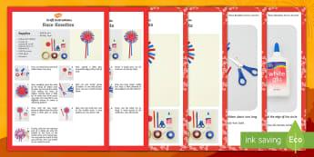 Race Rosettes Craft Instructions English/Afrikaans - create, make, art, fine motor, kuns, kreatief, EAL