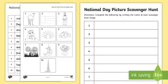 UAE National Day Picture Scavenger Hunt - National Day, UAE National Day, UAE Holidays, UAE Celebrations, UAE About