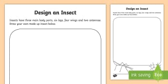 Draw Your Own Insect Activity Sheet - insect, communication, creative, drawing, special needs, special education,Australia