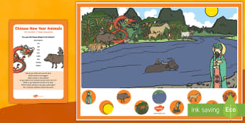 Chinese Animals Can you Find...? Poster and Prompt Card Pack - Chinese New Year, event, celebration, jade emperor, new year, finding,