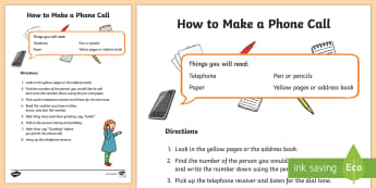 How To Make A Telephone Call Procedure Writing Sample - Literacy, australian curriculum, How To Make A Telephone Call Procedure  Writing Sample, writing, re