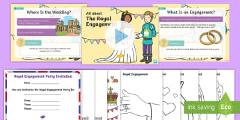 EYFS Royal Engagement Information and Activity Pack - Royalty, Prince Harry, Meghan, Engaged, Marry