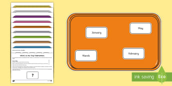 What's on the Tray? Months of the Year Memory Activity Pack -  memory games for kids, auditory memory activities, visual memory games, auditory memory games, memo