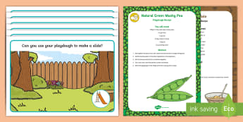 At the Park Playdough Recipe and Mat Pack - EYFS Parks and Gardens, playgrounds, play doh, ducks, pond, peas, bread, ducks eat peas, healthy duc