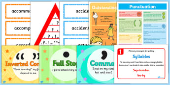 KS2 Literacy Working Wall Display Pack