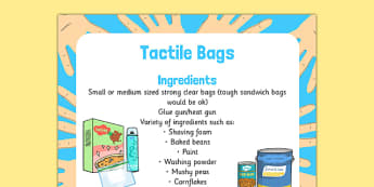 Tactile Bags Sensory Activity - tactile bags, sensory, activity, tactile, bags