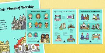 Different Beliefs Posters - poster, displays, display, religion