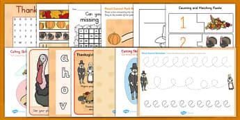 Thanksgiving Teaching Pack - ESL Kindergarten Thanksgiving