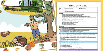 EYFS Autumn Interactive Poster Plan and Resource Pack - autumn, eyfs, interactive, poster, plan, pack