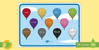 Poster: los colores en inglés - colores, colors, english, inglés, colorea, reconocimiento, color