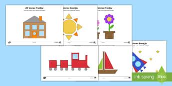2D Vorms Aktiwiteit - wiskunde, gesyferdheid, vierkant, reghoek, sirkel, driehoek