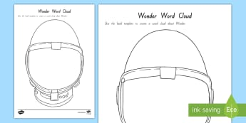 Year 5 and 6 Chapter Chat Wonder Word Cloud Activity to Support Teaching On Wonder by R.J. Palacio - literacy, reading, chapter chat, years 3 and 4, wonder RJ Palacio