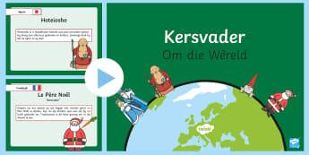 Kersvader Om die Wêreld - Desember, tradisie, vier, fees, inligting, feite, slee, Kersfees