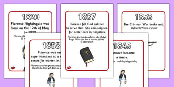 Florence Nightingale Timeline Polish Translation - polish, florence nightingale, timeline