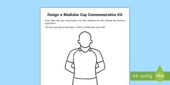 Design a Bledisloe Cup Rugby Kit Worksheet / Activity Sheet - rugby, new zealand, australia, all blacks, wallabies, bledisloe cup, worksheet