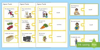 Reflexive Pronoun Jigsaw Puzzle - pronouns, reflexive, puzzle, activity, literacy