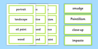 Art Appreciation Vocabulary Display Cards - art, appreciation, vocabulary, display, cards,