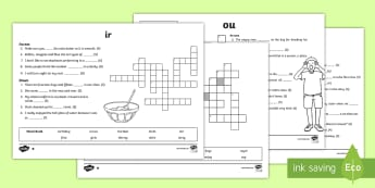 Digraph Differentiated Crosswords Bumper Assembly Pack - vowel diagraph, reading, first class, second class, 1st class, 2nd class, jolly phonics, jolly gramm