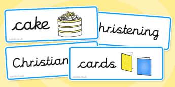 Baptism Word Cards - baptism, word cards, words, cards, baptise