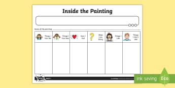 Inside the Painting Worksheet / Activity Sheet - activities, worksheet, paint