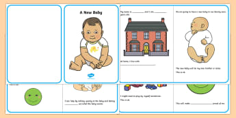 A New Baby Social Situation - social story, new baby, siblings, sibling rivalry, sibling jealously,