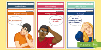 Barriers to Success A4 Display Posters - Blocks, success, study, help, what to do