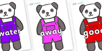 Next 200 Common Words on Panda Bears - Next 200 Common Words on  - DfES Letters and Sounds, Letters and Sounds, Letters and sounds words, Common words, 200 common words