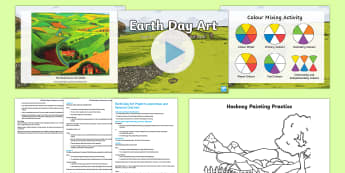 Earth Day Art Project Lesson Pack - KS2 Earth Day key stage 2, ks2, year 5, y5, year five, year 6, y6, year six,, landscapes, painting,