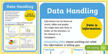 Data Handling Poster - data handling, data handling display poster, data handling definition poster, data poster, poster about data, maths display poster