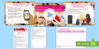 Creative Dance: Digital Messaging Inspiration Lesson Pack - dance, digital dance, creative dance, improvisation, choreography, motif