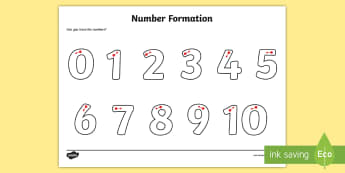 Number Formation Worksheet / Activity Sheet - Number formation, tracing numbers, tracing sheet, 0-9 tracing, 0-9, number writing practice, foundation stage numeracy, writing, learning to write, worksheet, overwriting