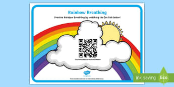 Mindfulness Rainbow Breathing Code Hunter - Mindfulness in the classroom mindfulness activities, mindfulness teaching resources, meditation, bre